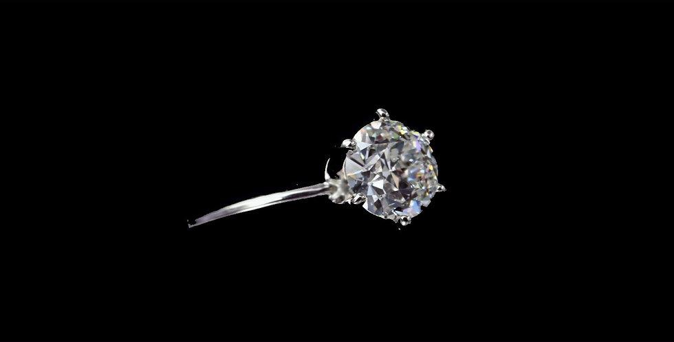 14K 1.62 Old European Cut Carat Diamond Ring