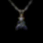 14K Sapphire & Diamond Necklace