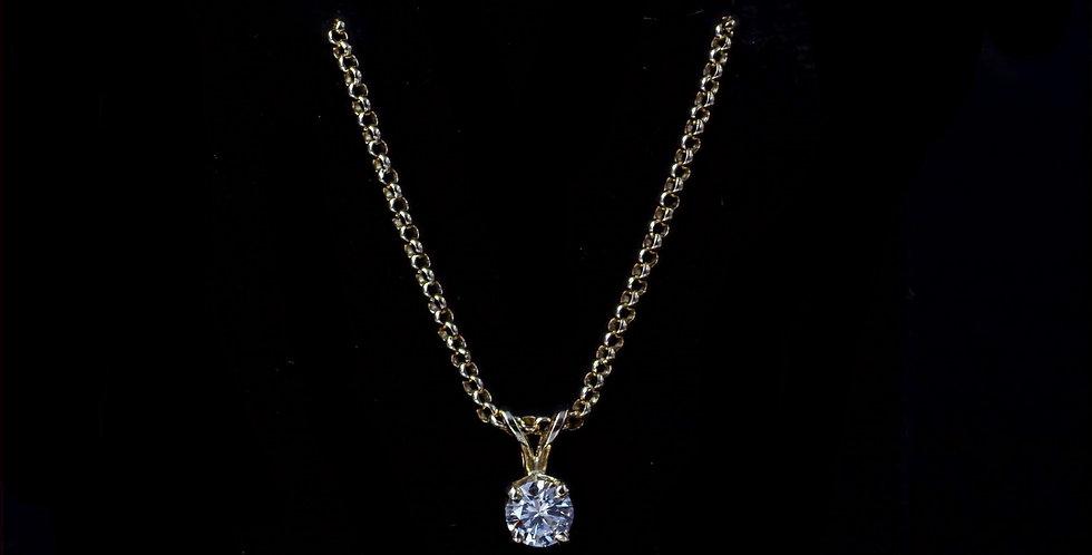 14K Yellow Gold .35 Carat Diamond Necklace