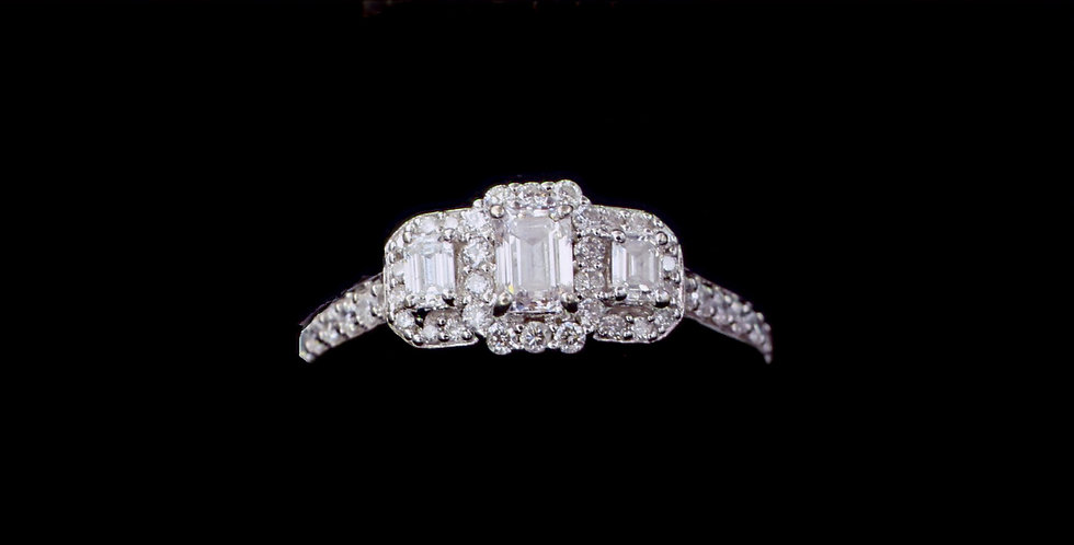 14K 1.00ct twt. Dianond Ring