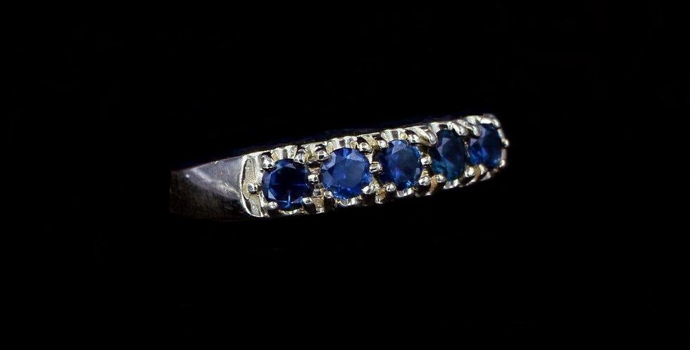 14K Vintage Sapphire Band
