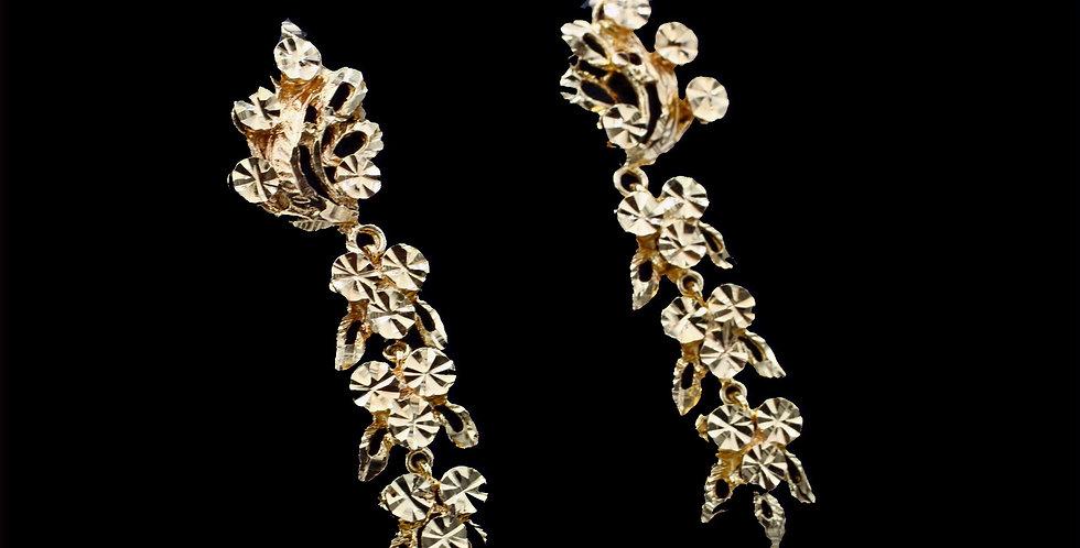 21 - 24K Yellow Gold Dangle Earrings