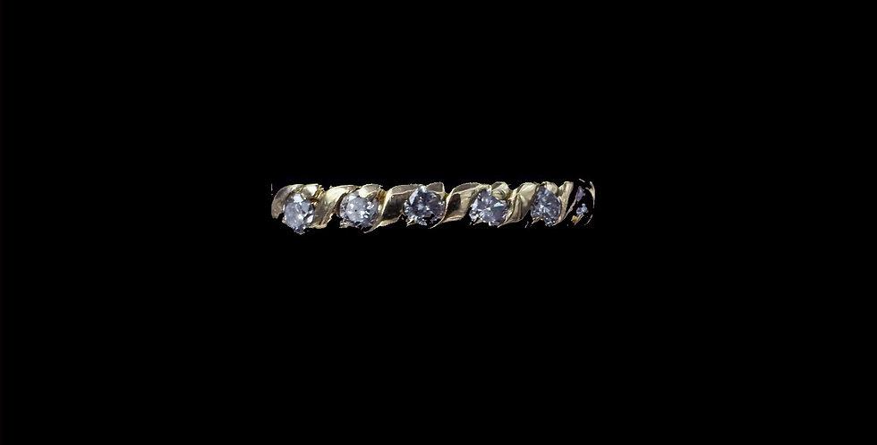 14K Yellow Gold .36 Carat Total Weight Diamond Band