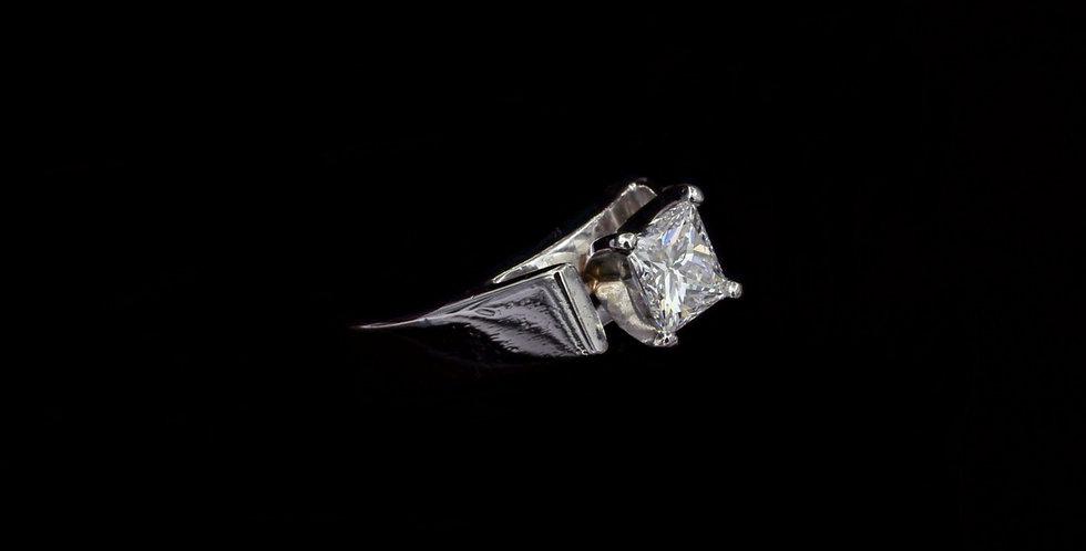 Platinum 1.06ct Princess Cut Diamond Ring