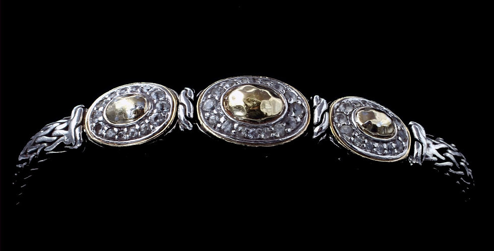 John Hardy 22K Gold and Sterling Silver Bracelet