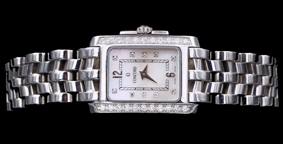 Stainless Steel Diamond Concord Quartz Watch