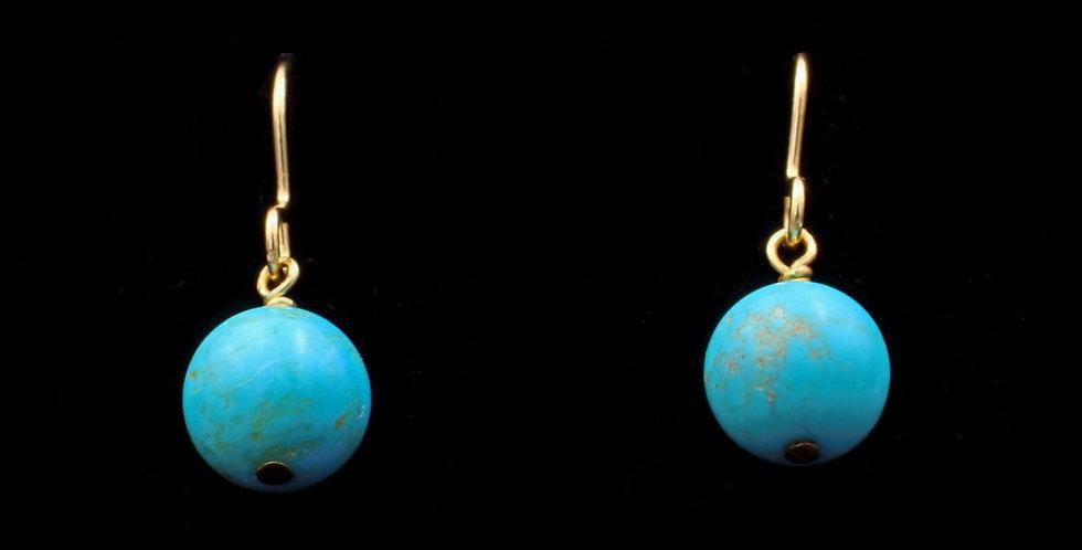 14K Turquoise Earrings
