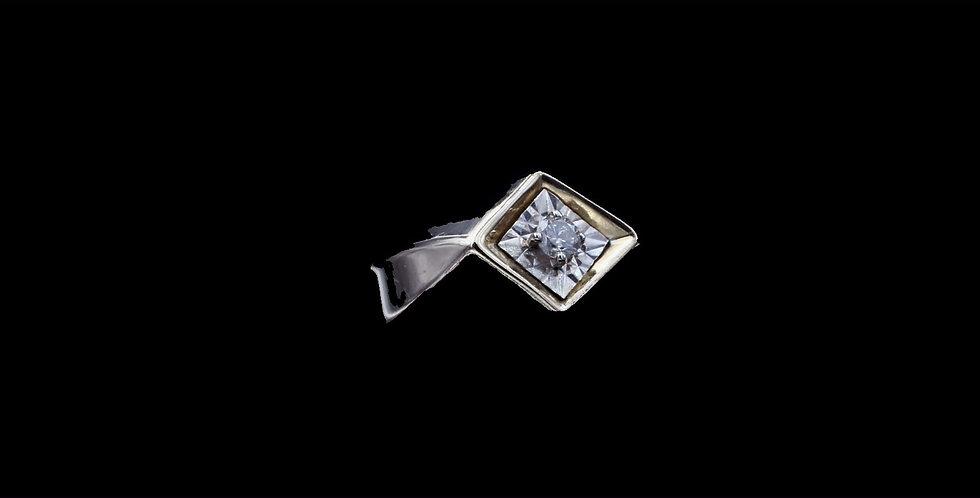 14K Yellow Gold  .10 Carat Diamond Ring