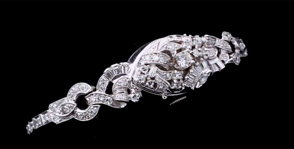 14k White Gold 17 Jewel Diamond Vintage Watch