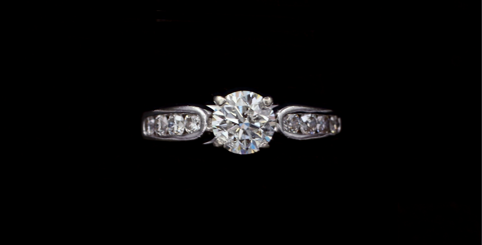 14K .91 & .30ct Diamond Ring