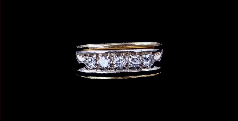 14k .47ct Total Weight Diamond Band