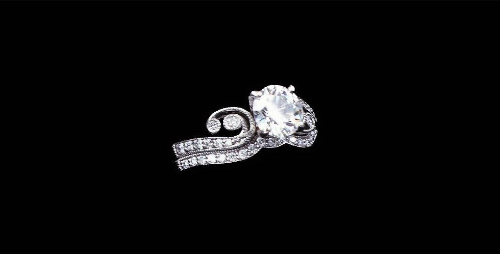 14K White Gold 1.00 & .25 Carat Diamond Ring