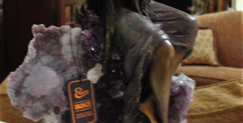 Bronze and Amethyst Sculpture