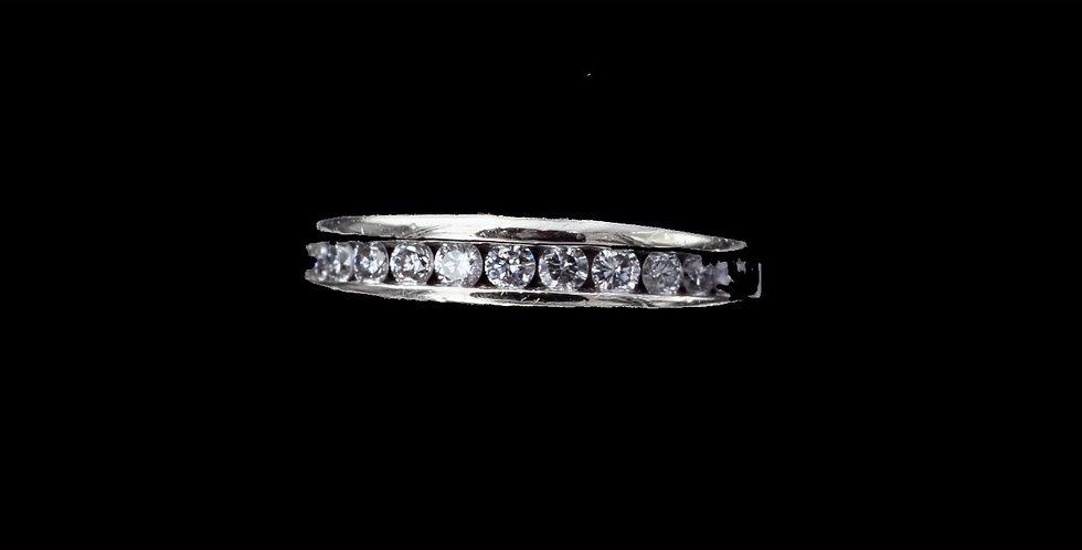 14K White Gold .50 Carat Diamond Band