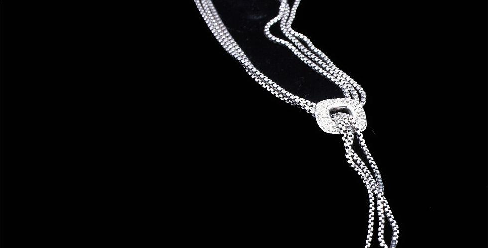 David Yurman Vintage Diamond Sterling Necklace