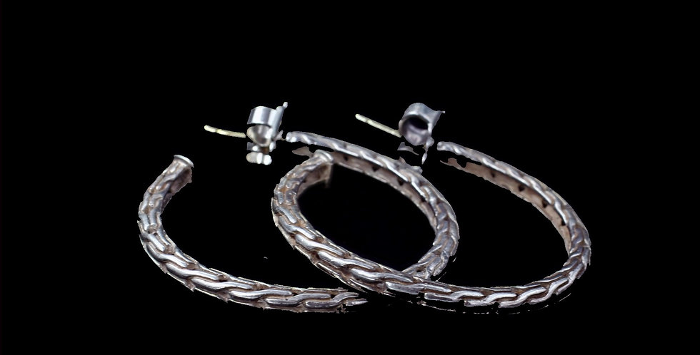 John Hardy Sterling Hoop Earrings