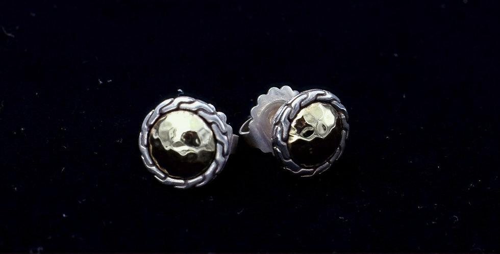 John Hardy 22K Gold and Sterling Silver Earrings