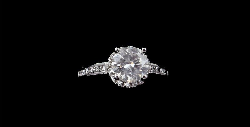 14K 1.65 Carat  & .40 Carat Diamond Ring