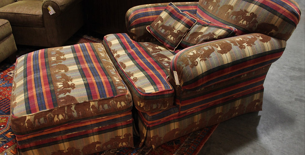Baker Chair and Ottoman