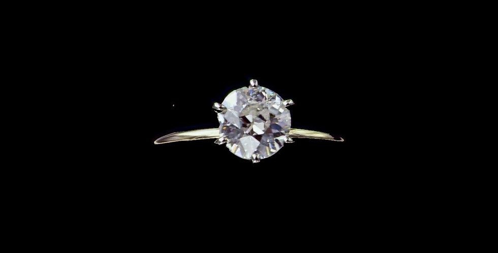 14K Yellow Gold Old European Cut Diamond Ring