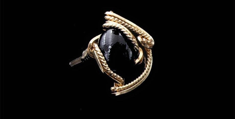 14K Wire Wrap Onyx Ring