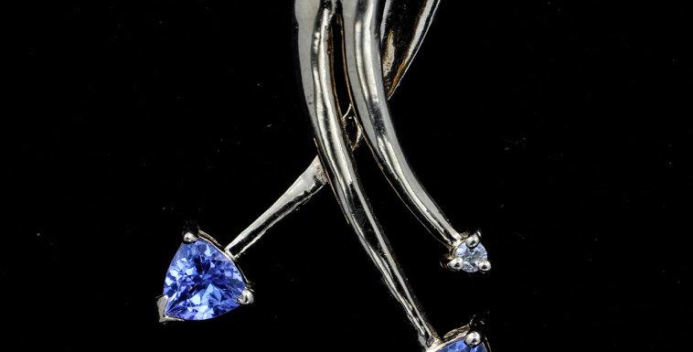 14k Tanzanite & Diamond Necklace
