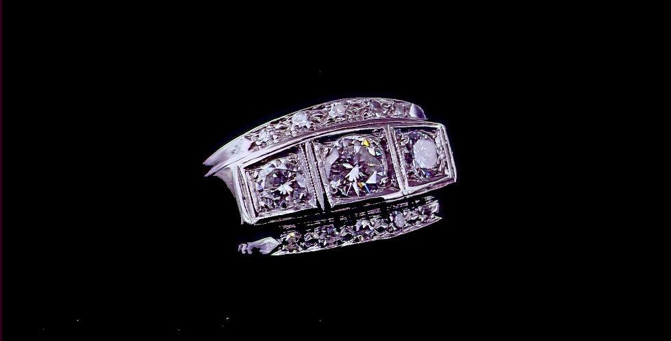 14K Vintage Art Deco Diamond Ring