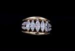 14K 2.00ct twt. Marquise Diamond Ring