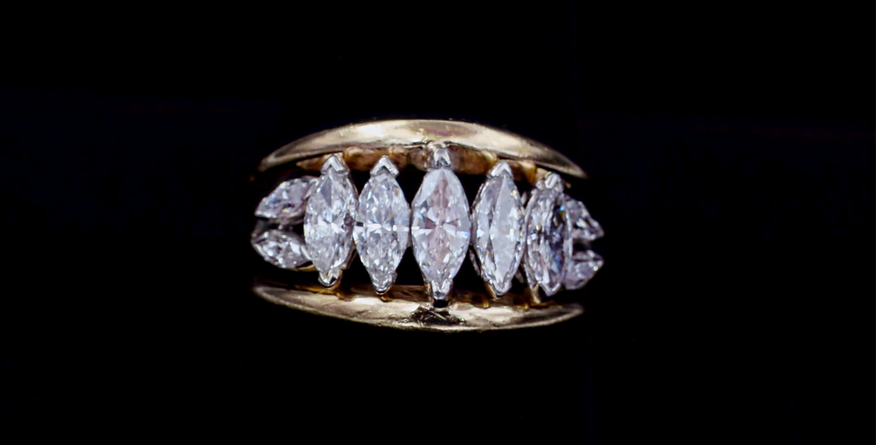 14K 2.00ct twt. Marquise Diamond Ring