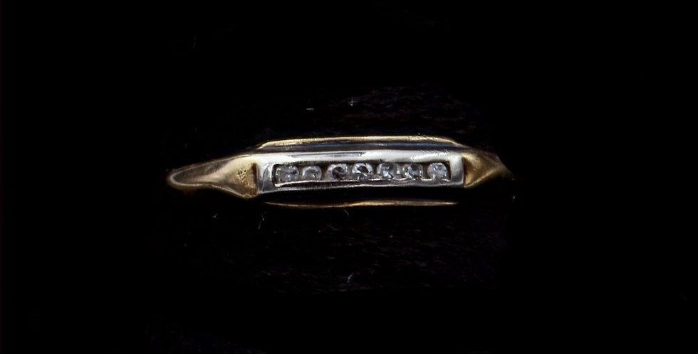 14K .03 Carat Total Weight Vintage Diamond Band