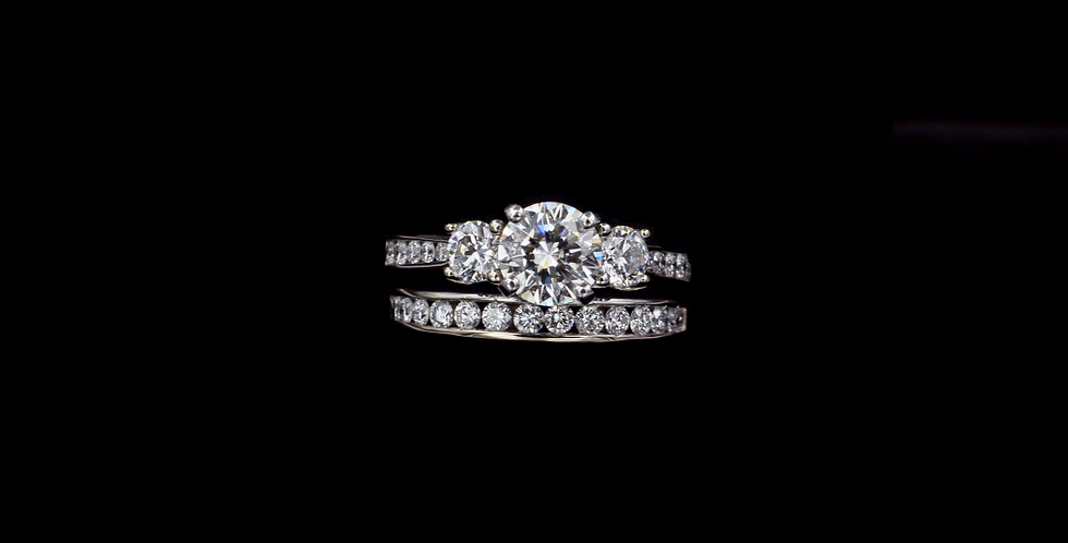 14Kwg .99ct & 1.11ct Diamond Ring