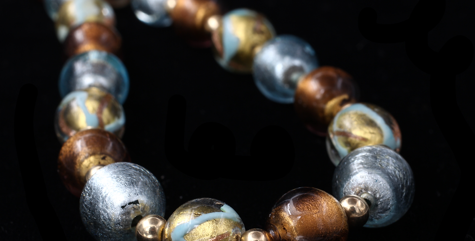 14K Yellow Gold Murano Glass Necklace