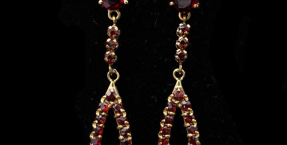 18K Garnet Earrings