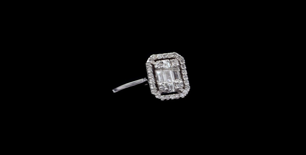 copy of 14K White Gold 1.00 Carat Total Weight Diamond Ring