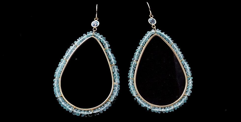 14K Faceted Apatite Drop Earrings