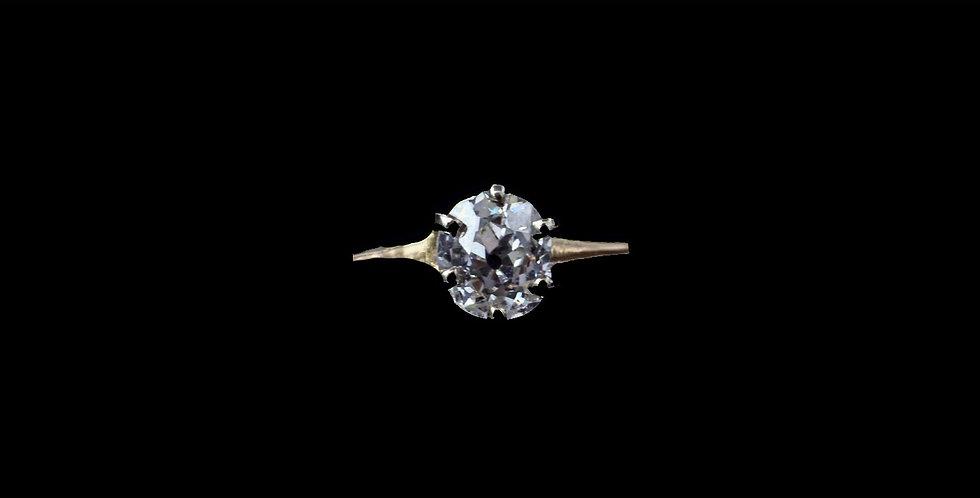 14K Yellow Gold Old Cut Diamond Ring