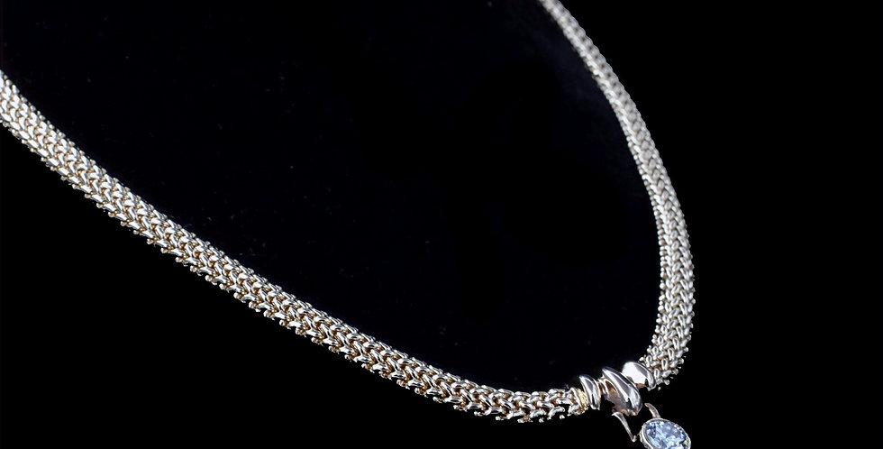14K Yellow Gold Diamond Necklace