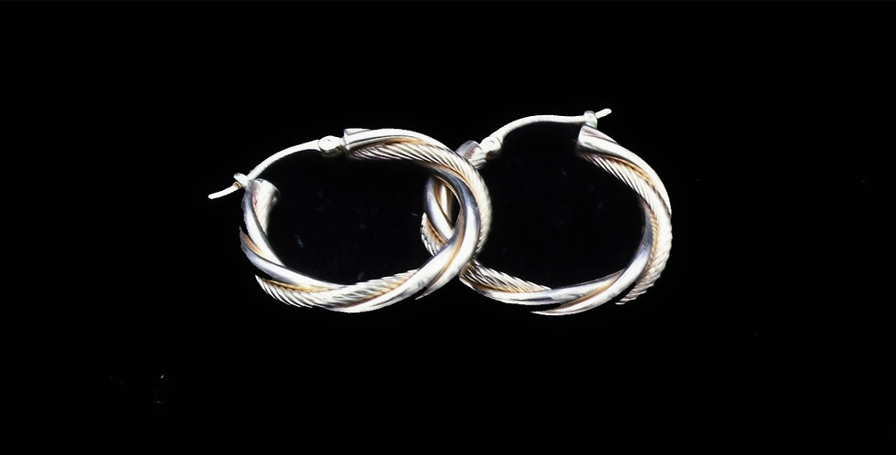 14K Twist Hoop Earrings