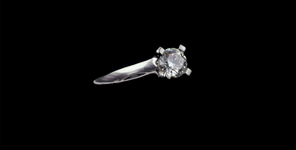 Platinum .62 Carat Total Weight Diamond Ring