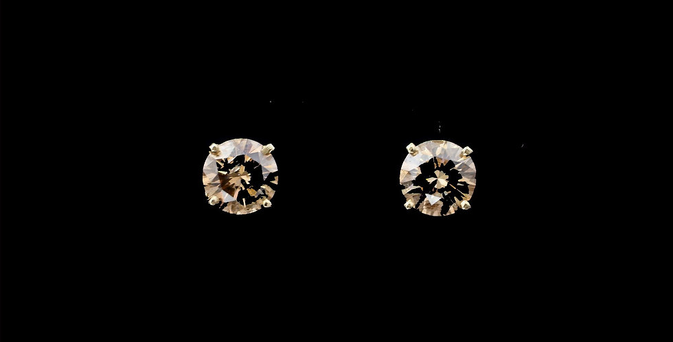 14K Yellow Gold 1.68 Carat Total Weight Diamond Earrings