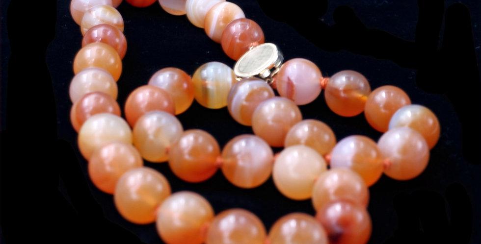 14k Vintage Carnelian Necklace