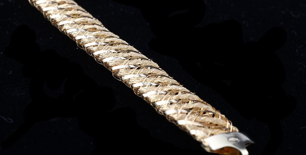 18K Mesh Style Bracelet