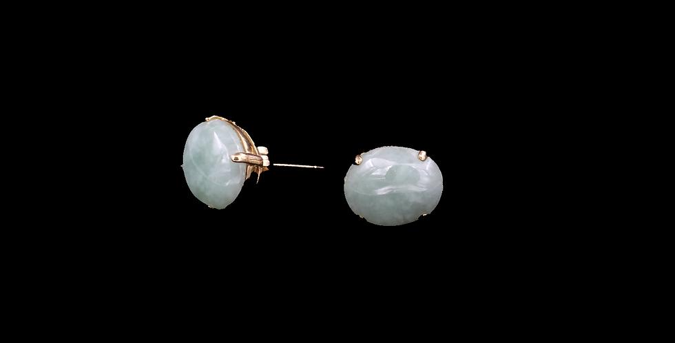 18K Jade Earrings