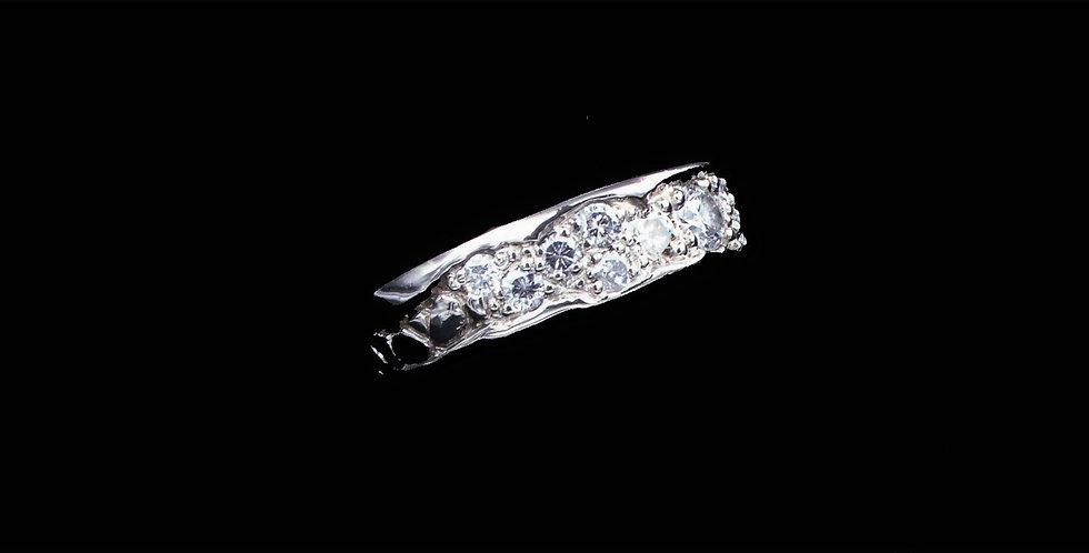 14K White Gold 2.22 Carat Total Weight Diamond Ring Designed by David Frank