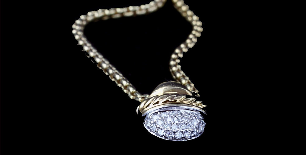 18K David Yurman Diamond Necklace