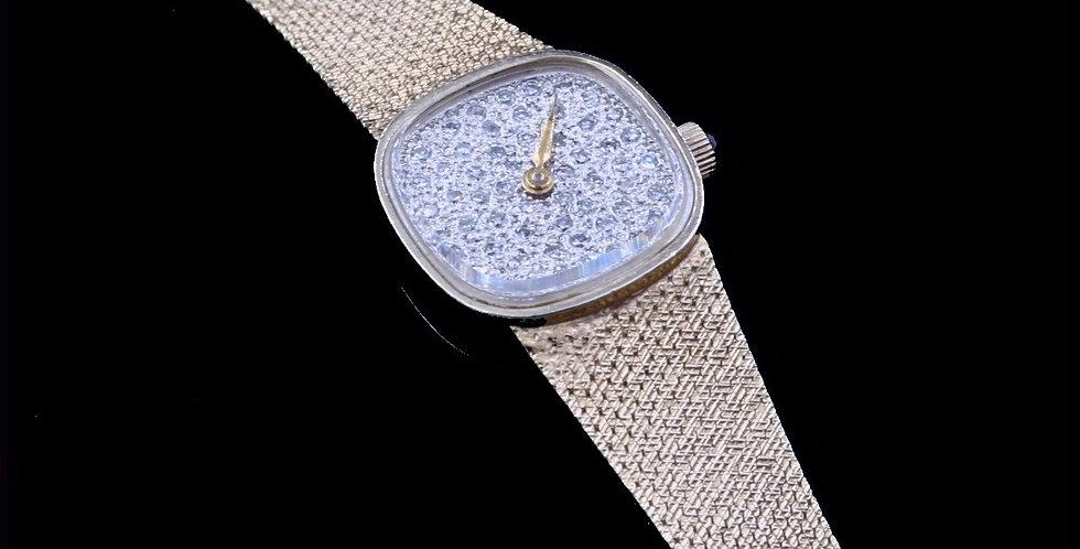 14K Yellow gold Lucien Piccard Diamond Quartz Watch