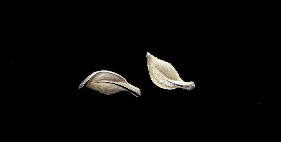 24K Leaf Motif Earrings