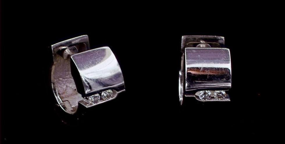 14K .08 Carat Total Weight Diamond Earrings