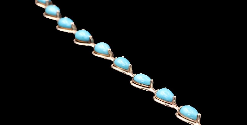 14K Turquoise Bracelet
