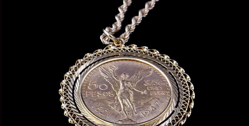 18 - 21K Necklace with 50 Pesos Coin